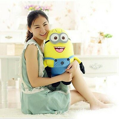 "For Kid 10"" Jorge Despicable Me 2 Plush Soft Toy Minions 3D Eye Doll Xmas Gift"