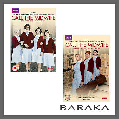 Call the Midwife series season 3 & 4 plus 2013 & 2014 Christmas Special DVD R4