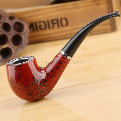 Vintage Smooth Wooden Durable Smoking Cigarette Tobacco Cigar Pipe Smokers Gift