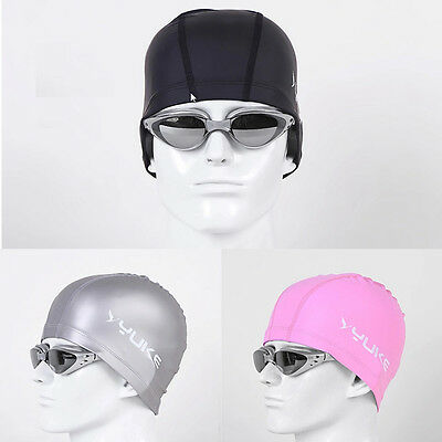 Men Women Adults Lycra with PU Coating Swim Swimming Cap Hat Extra Large SMC06