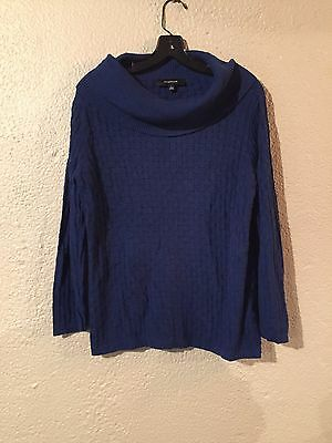 Jones Wear Blue Cowl Neck Sweater Size L