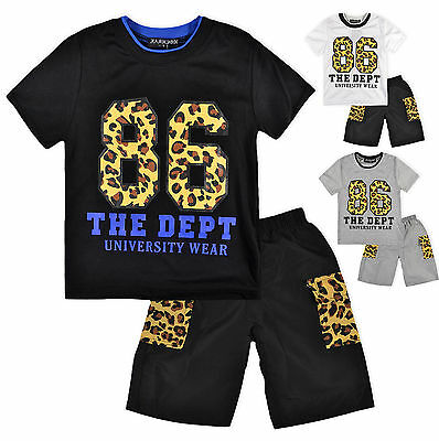 Boys Shorts And T Shirt Set Kids Short Sleeve T Shirt Outfit New Age 2-12 Years