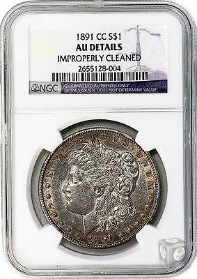 1891-CC Morgan $1 Graded by NGC AU-Details (Improperly Cleaned) NR $.99