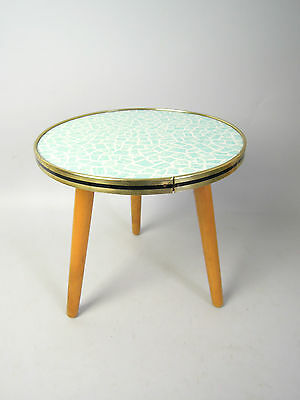 VINTAGE PLANTSTAND EAMES TRIPOD DANISH MODERN PLANT STAND SIDE TABLE 50s 60s 70s