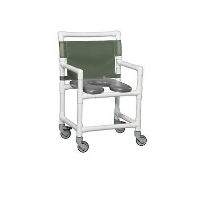 Standard Soft Seat Shower Commode 350 Lbs Gray Seat Autumn Fern       1 EA
