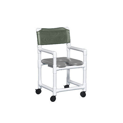 """Standard Soft Seat Shower Chair 20"""" Clearance Gray Seat Autumn Fern   1 EA"""