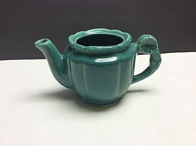 Shawnee Pottery Rosette Green Teapot With No Lid
