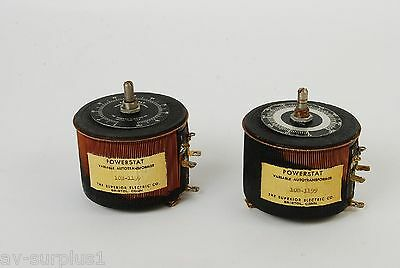 Lot of 2 Superior Electric 10B-1199 Variable Autotransformer AS IS