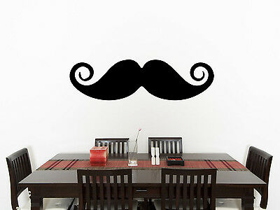 Moustache Living Room Dining Children's Bedroom Decal Wall Art Sticker Picture 1