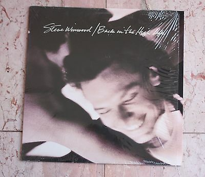 "STEVE WINWOOD, orig pressing LP, ""Back In The High Life"", shrink, TRAFFIC, NM+"