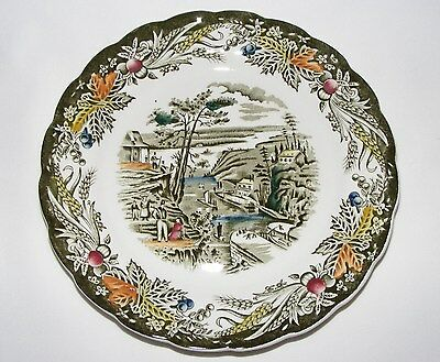 VINTAGE RIDGWAY 2 Pcs PLACE SETTING  EARLY CANADA HERITAGE BARTLETTS SCENES
