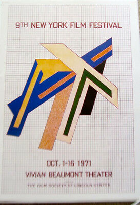 FRANK STELLA mini-Poster for THE OPENING OF THE NINTH NEW YORK FILM FESTIVAL LC