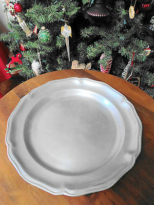 WILTON ARMETALE QUEEN ANNE 14 ¼ INCH SERVING PLATTER / CHARGER / CHOP PLATE