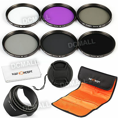 67mm UV CPL FLD ND2 ND4 ND8 Lens Filter Kit for Nikon 18-105mm Canon 18-135mm
