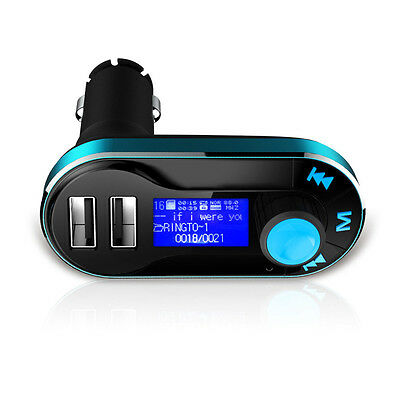 Universal 12V Dual USB Car Charger FM Transmitter AUX TF Music Audio MP3 Player