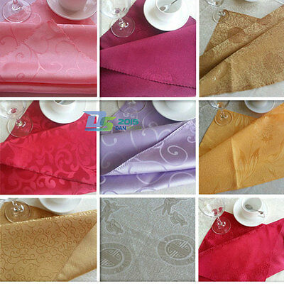 Square Printing Floral Practical Wedding Party Handkerchief Dinner Cloth Napkin