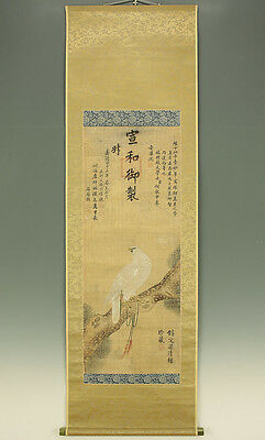 """Chinese Hanging Scroll """"White Hawk and Pine Tree""""  @z852"""