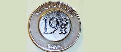1983 Manufacturers Bank -50th year Tie-tack /Pin