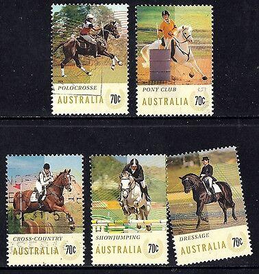 Australia 2014 Equestrian Events Complete Set of Stamps P Used Sheet