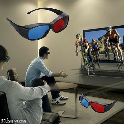 2* 3D Myopia Glasses Red Blue Anaglyph Dimensional for Game DVD Movie Cinema TV