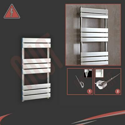 "500mm (w) x 950mm (h) Pre-filled Electric ""Vega"" Chrome Towel Rail - 150W"