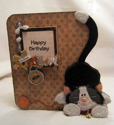 Handmade Greeting Card - Cat's Meow 3D Birthday Card