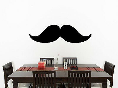 Moustache Living Room Dining Children's Bedroom Decal Wall Art Sticker Picture 3