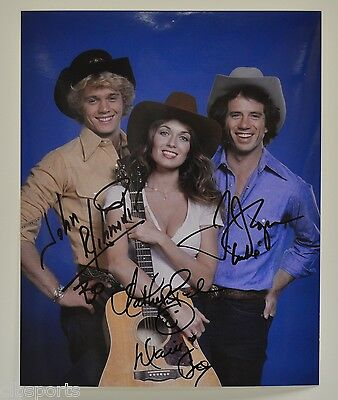 John Schneider Tom Wopat Catherine Bach signed Photograph Dukes of Hazzard