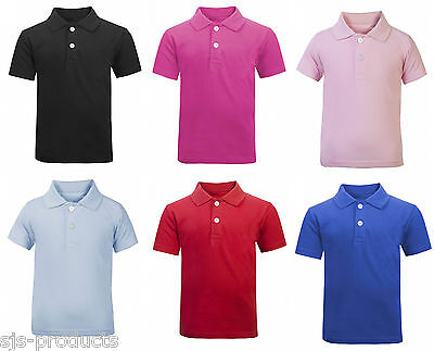 Baby Toddler Kids Boys Girls 100% Cotton Polo Top T-Shirt Soft Newborn - 3 Years