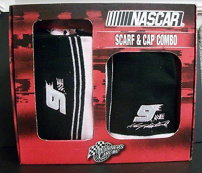NEW NASCAR #9 KASEY KAHNE WOMEN'S SCARF & HAT GIFT SET PINK RACING TAILGATING
