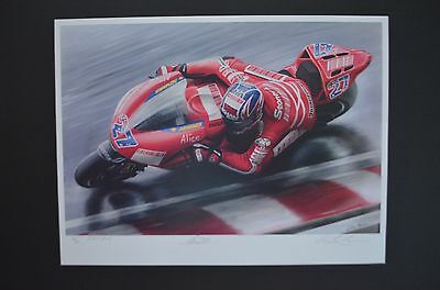 CASEY STONER MotoGP Champion limited edition ART by BIVENS Ducati motorcycle