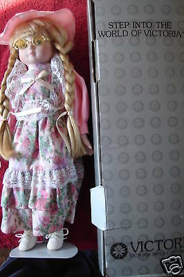 """Victoria Collection PORCELAIN DOLL Olivia 15"""" High"""