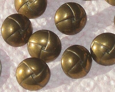 Set 12 BRASS Metal Vintage New Mushroom Dome Buttons