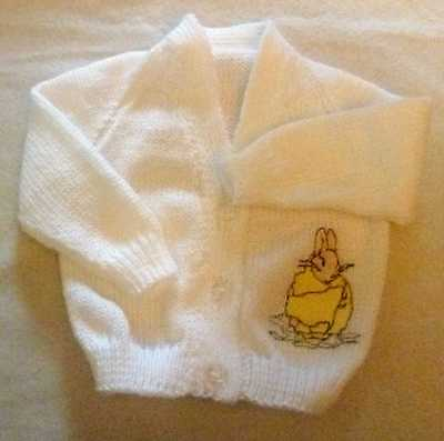 Beatrix Potter character Knitted baby cardigan  (New)
