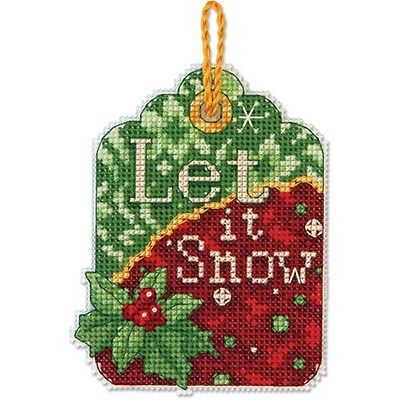 Counted Cross Stitch Kit LET IT SNOW ORNAMENT