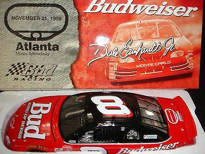 1999 DALE EARNHARDT JR.# 8 BUDWEISER  ATLANTA 1/24 RCCA/ACTION 2500 MADE