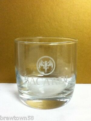 PD6 BACARDI RUM PUERTO RICO 1 COCKTAIL MIXER GLASS GLASSES GLASSWARE BAR TAVERN
