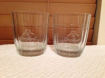 Pair of Crown Royal Whiskey Glass Tumblers. Free Shipping.