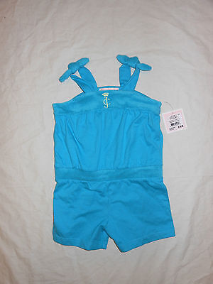 NWT Juicy Couture Baby Girls blue romper outfit, Size 6-12M & 12-18M
