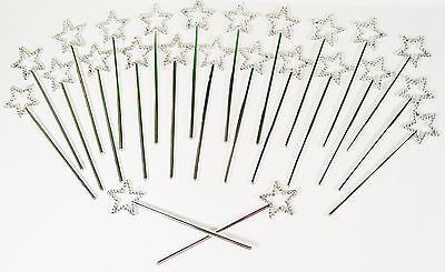 """Lot of 24 Mini Star Princess Wands Birthday Party Favors Dress Up 6.5"""""""