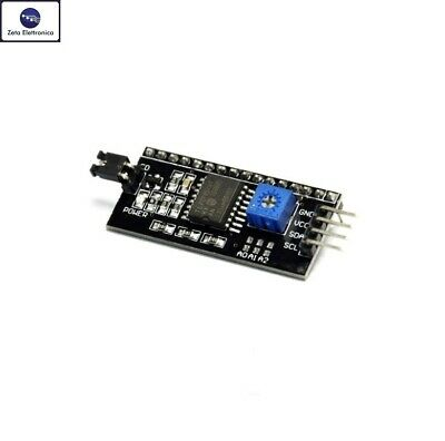 Adattatore Iic / I2C Modulo Per Display Lcd 1602 Arduino Interfaccia Seriale Pin
