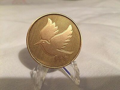 Dove Kindness Mark Twain Bronze Medallion Chip Coin Language Deaf Blind