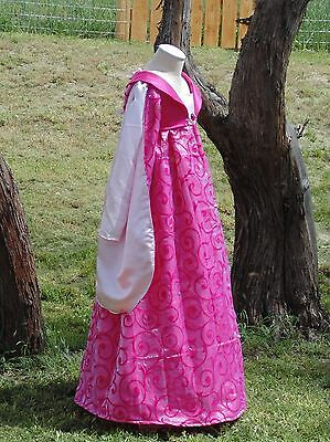 hot pink queen  Historical Party Colonial costume girls 8-10 Renaissance new