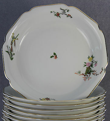 ESTATE DINNERWARE US ZONE GERMANY LOT 10 SOUP BOWLS HEINRICH BONE CHINA HC903