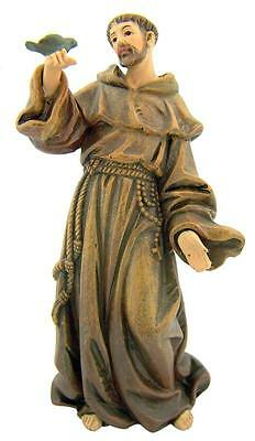 """Catholic Gift 4"""" Resin St Francis of Assisi Figure Statue Home Chapel Decoration"""