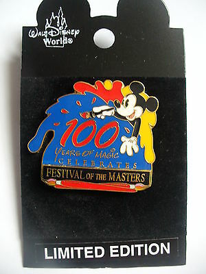DISNEYS WDW 100 YEARS OF MAGIC FESTIVAL OF THE MASTERS LE MICKEY MOUSE PIN