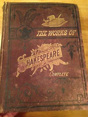 The Works of Shakespeare Complete - Hurst & Co. Publishers NY 1890's Illustrated