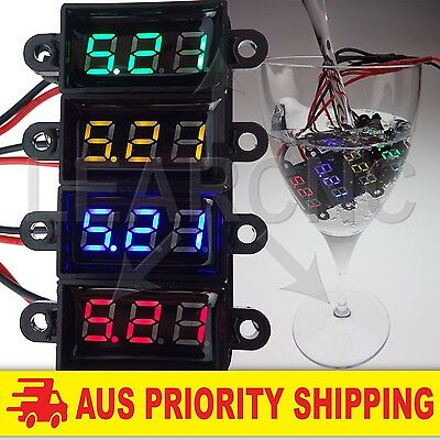 Mini LED Voltmeter DC3.5-30V Volt Meter Voltage Display Digital Waterproof