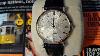 LONGINES Swirl Dial Texture10k Gold Guilloche Mechanical Watch MINT VINTAGE