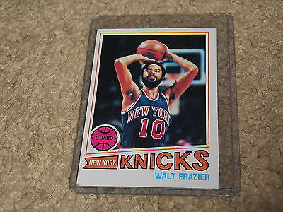 1977-78 Topps #129 WALT FRAZIER Vintage KNICKS! MUST SEE CONDTION!!